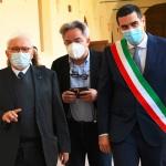 15/05/2021   Ravenna  Inaugurazione del Museo Dante alla presenza del ministro dell' Istruzione. nella foto da sinistra il ministro Patrizio Bianchi, l' assessore regionale alla Cultura Mauro Felicori e il sindaco Michele de Pascale.