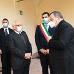15/05/2021   Ravenna  Inaugurazione del Museo Dante alla presenza del ministro dell' Istruzione. nella foto il ministro Patrizio Bianchi, a sinistra, con il sindaco Michele de Pascale e