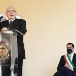 15/05/2021   Ravenna  Inaugurazione del Museo Dante alla presenza del ministro dell' Istruzione. nella foto il ministro Patrizio Bianchi e seduto il sindaco di Ravenna Michele de Pascale.