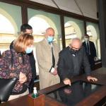 15/05/2021   Ravenna  Inaugurazione del Museo Dante alla presenza del ministro dell' Istruzione. nella foto il ministro Patrizio Bianchi durante la sua visita alle sale del Museo Dante.