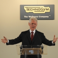 """Foto Nicoloro G. 29/09/2012 Cesena ( FC ) Inaugurazione, alla presenza del Capo dello Stato, della nuova sede della Technogym, prima """" Wellness Valley """" al mondo. nella foto l'ex Presidente degli Stati Uniti Bill Clinton"""