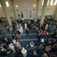 Foto Nicoloro G. 04/10/2013 Ravenna Inaugurazione della seconda più grande Moschea d' Italia dopo quella di Roma. nella foto Veduta dall'alto della sala di preghiera