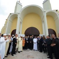 Foto Nicoloro G. 04/10/2013 Ravenna Inaugurazione della seconda più grande Moschea d' Italia dopo quella di Roma. nella foto Foto di gruppo