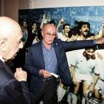 Foto Nicoloro G.   02/09/2021   Fusignano ( Ra )   Inaugurazione della mostra dedicata ad Arrigo Sacchi dal titolo  ' Oltre il sogno. L' emozione del calcio totale di Arrigo Sacchi '. nella foto Adriano Galliani e Arrigo Sacchi.
