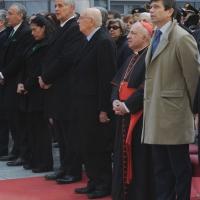 Foto Nicoloro G. 21/03/2011 Milano Inaugurazione alla presenza del Capo dello Stato della nuova sede della Regione Lombardia. nella foto Giorgio Napolitano e Dionigi Tettamanzi con le altre autorità
