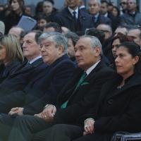 Foto Nicoloro G. 21/03/2011 Milano Inaugurazione alla presenza del Capo dello Stato della nuova sede della Regione Lombardia. nella foto Autorità presenti alla cerimonia