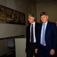 nella foto  il presidente CONI Giovanni Malagò, a sinistra, e Pierluigi Marzorati, presidente Coni Lombardia.
