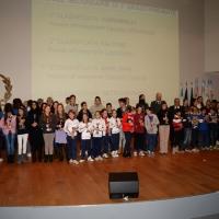 Foto NicoloroG.  04/12/2013  Milano   Trentunesima edizione del '' Milano International Ficts Fest ''. nella foto il gruppo degli studenti premiati.