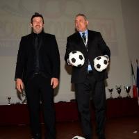 Foto NicoloroG.  04/12/2013  Milano   Trentunesima edizione del '' Milano International Ficts Fest ''. nella foto i due ex calciatori Vincent Candela, a sinistra, e Hristo Stoichkov.