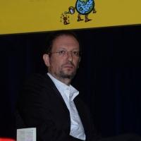 """Foto Nicoloro G.  03/10/2014  Ferrara  Ottava edizione del festival """" Internazionale """". nella foto Giovanni De Mauro, direttore di Internazionale."""