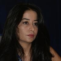 """Foto Nicoloro G.  03/10/2014  Ferrara  Ottava edizione del festival """" Internazionale """". nella foto la giornalista siriana Maisa Saleh, che vive in esilio in Turchia, cui è stato assegnato il Premio Anna Politkovskaja 2014."""