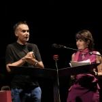 Foto Nicoloro G.   Cervia (RA)   22° edizione de La Milanesiana che per il secondo anno sbarca in Emilia-Romagna e fa tappa a Cervia. nella foto l' assessore Andrea Corsini e Elisabetta Sgarbi.