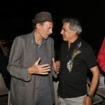 Foto Nicoloro G.   06/08/2020  Cervia  ( RA )  Serata conclusiva per La Milanesiana in Emilia-Romagna. nella foto lo scrittore Ermanno Cavazzoni, a sinistra, e il musicista Paolo Fresu.