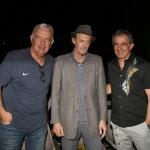 Foto Nicoloro G.   06/08/2020  Cervia  ( RA )  Serata conclusiva per La Milanesiana in Emilia-Romagna. nella foto da sinistra l' attore Gene Gnocchi, lo scrittore Ermanno Cavazzoni e il musicista Paolo Fresu.
