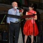 Foto Nicoloro G.   06/08/2020  Cervia  ( RA )  Serata conclusiva per La Milanesiana in Emilia-Romagna. nella foto il sindaco di Cervia Massimo Medri e Elisabetta Sgarbi.