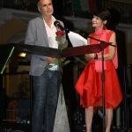 Foto Nicoloro G.   06/08/2020  Cervia  ( RA )  Serata conclusiva per La Milanesiana in Emilia-Romagna. nella foto l' assessore Andrea Corsini ed Elisabetta Sgarbi.