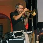 Foto Nicoloro G.   06/08/2020  Cervia  ( RA )  Serata conclusiva per La Milanesiana in Emilia-Romagna. nella foto il musicista Paolo Fresu, che si e' esibito in concerto con l' orchestra Extraliscio.