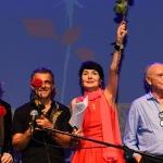 Foto Nicoloro G.   06/08/2020  Cervia  ( RA )  Serata conclusiva per La Milanesiana in Emilia-Romagna. nella foto il musicista Paolo Fresu ed Elisabetta Sgarbi.