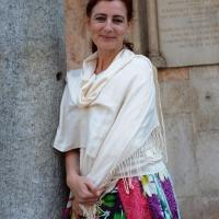 """Foto Nicoloro G. 06/06/2010  Cremona  Primo Festival TRA Letteratura e Musica """" Le corde dell ' anima """" . nella foto Angeles Caso"""