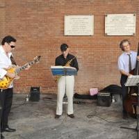 """Foto Nicoloro G.  06/06/2010  Cremona  Primo Festival TRA Letteratura e Musica """" Le corde dell ' anima """" . nella foto Il trio jazz Tartamella Bozza Bridge"""