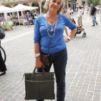 """Foto Nicoloro G.  06/06/2010  Cremona  Primo Festival TRA Letteratura e Musica """" Le corde dell ' anima """" . nella foto Sandra Petrignani"""