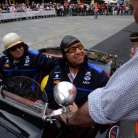 Foto Nicoloro G. 16/05/2014  Ravenna    La 32° edizione della 1000 Miglia, con le sue 435 auto, passa da Ravenna. nella foto tra i partecipanti Jo Ramirez, che fu coordinatore della Mc Laren in Formula 1.