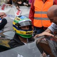 Foto Nicoloro G. 16/05/2014  Ravenna    La 32° edizione della 1000 Miglia, con le sue 435 auto, passa da Ravenna. nella foto tra i partecipanti il pilota Bruno Senna, nipote del più famoso Ayrton Senna.