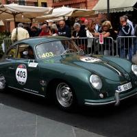 Foto Nicoloro G. 16/05/2014  Ravenna    La 32° edizione della 1000 Miglia, con le sue 435 auto, passa da Ravenna. nella foto tra i partecipanti Ferruccio Ferragamo alla guida di una Porsche.