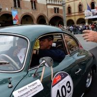 Foto Nicoloro G. 16/05/2014  Ravenna    La 32° edizione della 1000 Miglia, con le sue 435 auto, passa da Ravenna. nella foto tra i partecipanti Ferruccio Ferragamo.