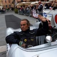 Foto Nicoloro G. 16/05/2014  Ravenna    La 32° edizione della 1000 Miglia, con le sue 435 auto, passa da Ravenna. nella foto tra i partecipanti Jacky Ickx.