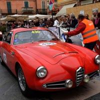 Foto Nicoloro G. 16/05/2014 Ravenna La 32° edizione della 1000 Miglia, con le sue 435 auto, passa da Ravenna. nella foto tra i partecipanti Andrea Zagato su una fiammante Alfa Romeo.