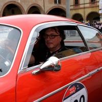Foto Nicoloro G. 16/05/2014  Ravenna    La 32° edizione della 1000 Miglia, con le sue 435 auto, passa da Ravenna. nella foto tra i partecipanti Andrea Zagato.