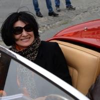 Foto Nicoloro G. 16/05/2014  Ravenna    La 32° edizione della 1000 Miglia, con le sue 435 auto, passa da Ravenna. nella foto tra i partecipanti Paloma Picasso.