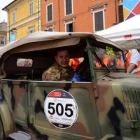 Foto Nicoloro G. 16/05/2014  Ravenna    La 32° edizione della 1000 Miglia, con le sue 435 auto, passa da Ravenna. nella foto alcuni mezzi militari che partecipano alla competizione.