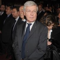 """Foto Nicoloro G. 14/11/2010, Milano, Manifestazione promossa dal PdL al teatro Nuovo """" Dalla parte del Cavaliere """". nella foto Paolo Romani"""