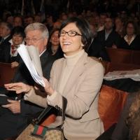 """Foto Nicoloro G. 14/11/2010, Milano, Manifestazione promossa dal PdL al teatro Nuovo """" Dalla parte del Cavaliere """". nella foto Mariastella Gelmini"""