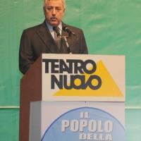 """Foto Nicoloro G. 14/11/2010, Milano, Manifestazione promossa dal PdL al teatro Nuovo """" Dalla parte del Cavaliere """". nella foto Guido Podestà"""