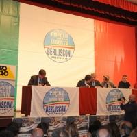 """Foto Nicoloro G. 14/11/2010, Milano, Manifestazione promossa dal PdL al teatro Nuovo """" Dalla parte del Cavaliere """". nella foto L'intervento di Letizia Moratti"""