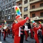 Foto Nicoloro G.   29/06/2019  Milano   Manifestazione con corteo del Gay Pride. nella foto la musica della banda ha seguito tutto il tragitto del corteo.