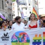 Foto Nicoloro G.   29/06/2019   Milano    Manifestazione con corteo del Gay Pride. nella foto l' assessore Pierfrancesco Majorino dietro lo striscione alla testa del corteo.