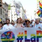 29/06/2019  Milano   Manifestazione con corteo del Gay Pride. nella foto l' assessore Pierfrancesco Majorino dietro lo striscione in testa al corteo.