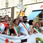 Foto Nicoloro G.   29/06/2019  Milano   Manifestazione con corteo del Gay Pride. nella foto alcuni sindaci tra i partecipanti in testa al corteo.