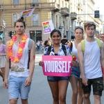 Foto Nicoloro G.   29/06/2019  Milano   Manifestazione con corteo del Gay Pride. nella foto partecipanti al corteo.