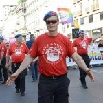 Foto Nicoloro G.   29/06/2019  Milano   Manifestazione con corteo del Gay Pride. nella foto Mario Furlan, fondatore dei City Angels sempre alla testa dei suoi.