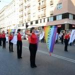 Foto Nicoloro G.   29/06/2019   Milano    Manifestazione con corteo del Gay Pride. nella foto una coreografia di sbandieratrici.