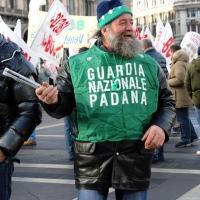 Foto Nicoloro G. 22/01/2012 Milano Manifestazione con corteo della Lega Nord contro il governo Monti. nella foto Manifestante
