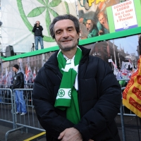 Foto Nicoloro G. 22/01/2012 Milano Manifestazione con corteo della Lega Nord contro il governo Monti. nella foto Attilio Fontana
