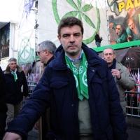 Foto Nicoloro G. 22/01/2012 Milano Manifestazione con corteo della Lega Nord contro il governo Monti. nella foto Roberto Cota