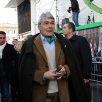 Foto Nicoloro G. 22/01/2012 Milano Manifestazione con corteo della Lega Nord contro il governo Monti. nella foto Roberto Castelli