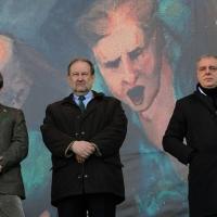 Foto Nicoloro G. 22/01/2012 Milano Manifestazione con corteo della Lega Nord contro il governo Monti. nella foto Leonardo Muraro – Marco Mariani – Andrea Gibelli